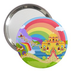 Rain Bow 3  Handbag Mirror