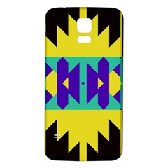 Tribal Design			samsung Galaxy S5 Back Case (white) by LalyLauraFLM