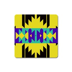 Tribal Design magnet (square) by LalyLauraFLM