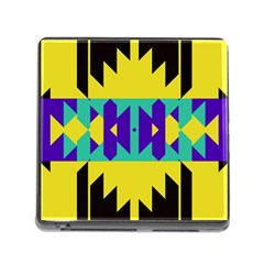 Tribal Design 			memory Card Reader (square) by LalyLauraFLM