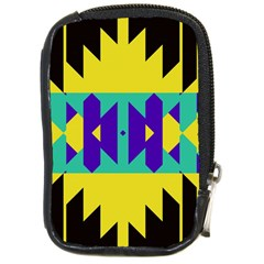 Tribal Design compact Camera Leather Case by LalyLauraFLM