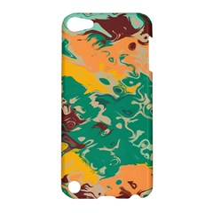 Texture In Retro Colorsapple Ipod Touch 5 Hardshell Case by LalyLauraFLM