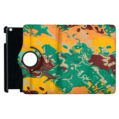 Texture In Retro Colors			apple Ipad 2 Flip 360 Case by LalyLauraFLM
