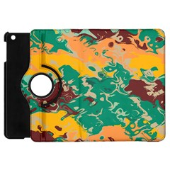 Texture In Retro Colors			apple Ipad Mini Flip 360 Case by LalyLauraFLM