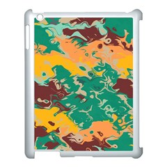 Texture In Retro Colors			apple Ipad 3/4 Case (white) by LalyLauraFLM