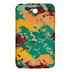 Texture In Retro Colorssamsung Galaxy Tab 3 (7 ) P3200 Hardshell Case by LalyLauraFLM