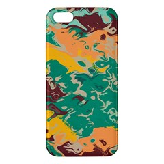 Texture In Retro Colors			iphone 5s Premium Hardshell Case by LalyLauraFLM