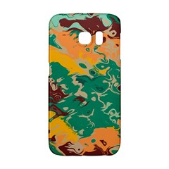 Texture in retro colorsSamsung Galaxy S6 Edge Hardshell Case by LalyLauraFLM