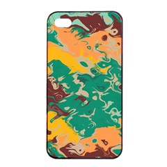 Texture In Retro Colors			apple Iphone 4/4s Seamless Case (black) by LalyLauraFLM