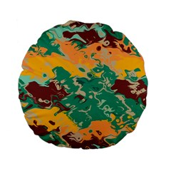 Texture In Retro Colors standard 15  Premium Flano Round Cushion by LalyLauraFLM