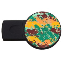 Texture In Retro Colors usb Flash Drive Round (4 Gb) by LalyLauraFLM