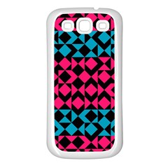 Rhombus And Trianglessamsung Galaxy S3 Back Case (white) by LalyLauraFLM