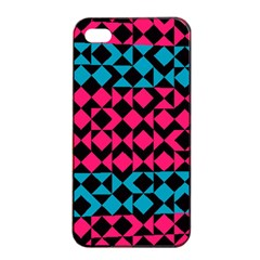 Rhombus And Triangles			apple Iphone 4/4s Seamless Case (black) by LalyLauraFLM