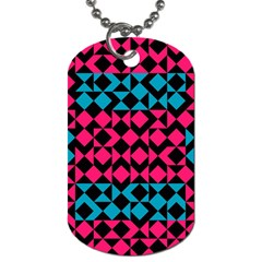 Rhombus And Triangles			dog Tag (one Side) by LalyLauraFLM