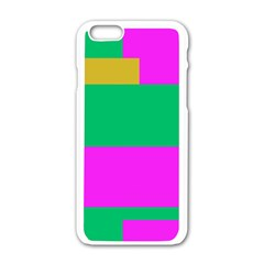 Rectangles And Other Shapes			apple Iphone 6/6s White Enamel Case by LalyLauraFLM