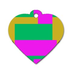 Rectangles And Other Shapes 			dog Tag Heart (one Side) by LalyLauraFLM