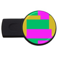 Rectangles And Other Shapes usb Flash Drive Round (2 Gb) by LalyLauraFLM
