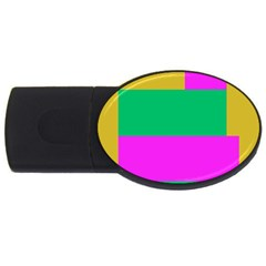 Rectangles And Other Shapes usb Flash Drive Oval (2 Gb) by LalyLauraFLM