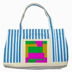 Rectangles And Other Shapes striped Blue Tote Bag by LalyLauraFLM