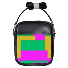 Rectangles And Other Shapes 			girls Sling Bag by LalyLauraFLM