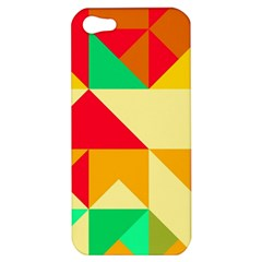 Retro Colors Shapes			apple Iphone 5 Hardshell Case by LalyLauraFLM