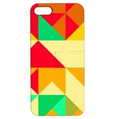 Retro Colors Shapes			apple Iphone 5 Hardshell Case With Stand by LalyLauraFLM