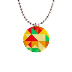 Retro Colors Shapes 			1  Button Necklace by LalyLauraFLM