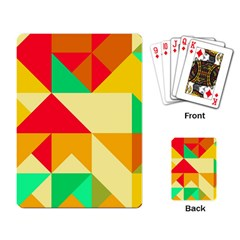 Retro Colors Shapes 			playing Cards Single Design by LalyLauraFLM