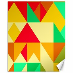 Retro Colors Shapes 			canvas 16  X 20  by LalyLauraFLM