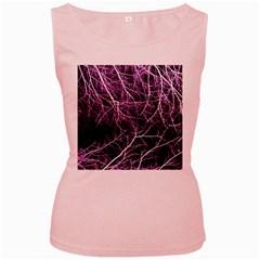 Purple Twigs Women s Pink Tank Tops by timelessartoncanvas