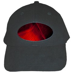 Red Abstract Black Cap by timelessartoncanvas