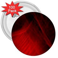 Red Abstract 3  Buttons (100 Pack)  by timelessartoncanvas