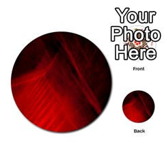 Red Abstract Multi Purpose Cards (round)  by timelessartoncanvas