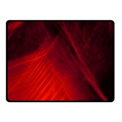 Red Abstract Fleece Blanket (small)