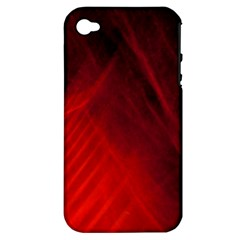 Red Abstract Apple Iphone 4/4s Hardshell Case (pc+silicone) by timelessartoncanvas