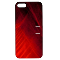 Red Abstract Apple Iphone 5 Hardshell Case With Stand by timelessartoncanvas