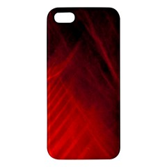 Red Abstract Apple Iphone 5 Premium Hardshell Case by timelessartoncanvas