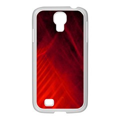 Red Abstract Samsung Galaxy S4 I9500/ I9505 Case (white) by timelessartoncanvas