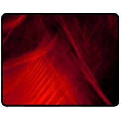 Red Abstract Double Sided Fleece Blanket (medium)  by timelessartoncanvas