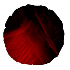 Red Abstract Large 18  Premium Flano Round Cushions by timelessartoncanvas