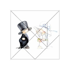 Little Bride and Groom Acrylic Tangram Puzzle (4  x 4 ) by Weddings