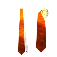 Orange Wonder Neckties (two Side)  by timelessartoncanvas