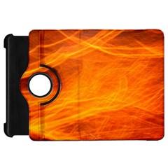 Orange Wonder Kindle Fire Hd Flip 360 Case by timelessartoncanvas