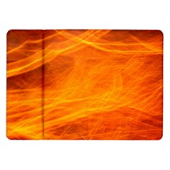 Orange Wonder Samsung Galaxy Tab 10 1  P7500 Flip Case by timelessartoncanvas