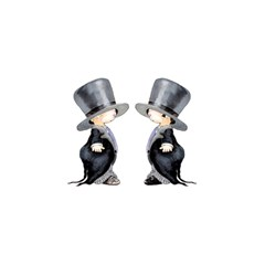 Little Groom And Groom Birthday Cake 3d Greeting Card (7x5)  by Weddings