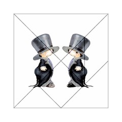 Little Groom and Groom Acrylic Tangram Puzzle (6  x 6 ) by Weddings