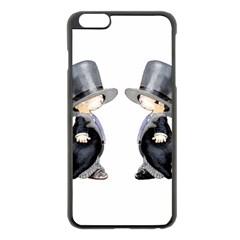 Little Groom And Groom Apple Iphone 6 Plus/6s Plus Black Enamel Case by Weddings