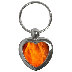 Orange Wonder 2 Key Chains (heart)  by timelessartoncanvas
