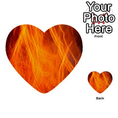 Orange Wonder 2 Multi Purpose Cards (heart)  by timelessartoncanvas