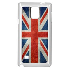 Union Jack Vintage Bright Samsung Galaxy Note 4 Case (white) by bruzer